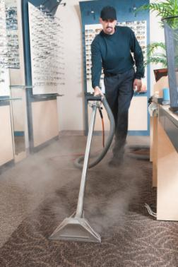 Gleam Clean Carpet Cleaning cleaning carpet via hot water extraction in Kemp TX.